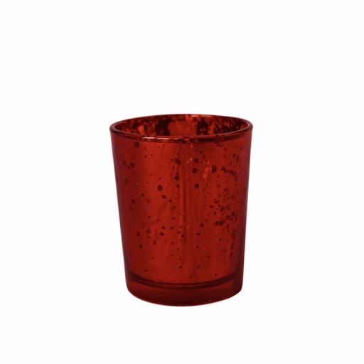 Bougeoir métal 5.5Cmx6.7cm Rouge