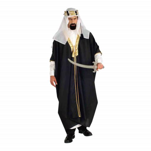 Déguisement Cheik Arabe Noir - Taille Unique