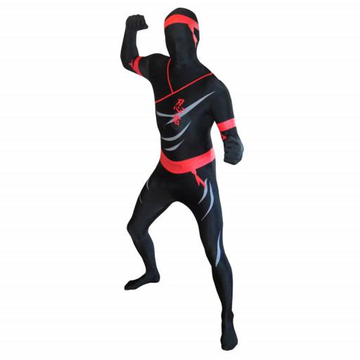 Déguisement seconde peau ™ Ninja Noir Taille L