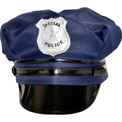 Casquette Police Americaine Bleue 100% Polyester