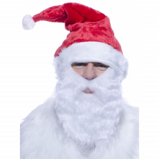 Bonnet de Père Noel avec Barbe