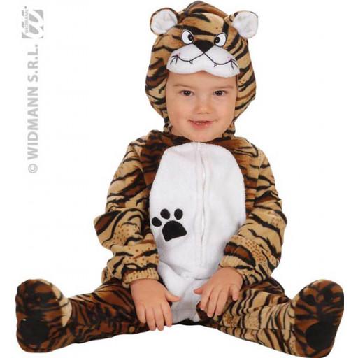 Déguisement Bébé Tigre - Combi + Coiffe 90cm (1/2Ans)