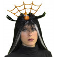 Serre tète Halloween Spider Dentelle Noir/Orange