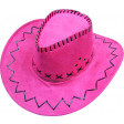 Chapeau Cow-Boy Adulte Texas avec Coutures Rose - Assorti