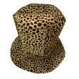 Chapeau Haut de Forme Mousse Leopard 36cm