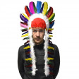 Coiffe Plumes Chef Indien Cheval Fou