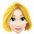 """Masque Carton Adulte Princesse Raiponce """"©Raiponce"""""""