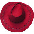 Chapeau Cow-Boy Adulte Texas avec Coutures Rouge