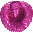 Chapeau Cow Boy Paillettes Rose