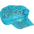 Casquette Turquoise Paillettes - Tailles Assorties