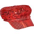Casquette Rouge Paillettes - Tailles Assorties