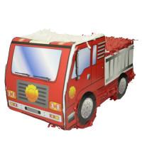 Pinata Camion de Pompier à Tirer 50cm (Vendu Sans Baton) 123DEG-3700638223983-10018856
