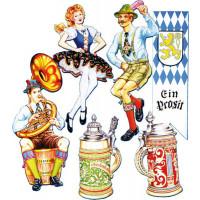 6 Decors Oktoberfest 50cm Imp 2 Faces 123DEG-34689556466-10018635