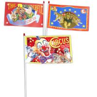 Paquet de 100 Drapeaux de Cirque 20 X 30cm Assortis 123DEG-3700638218064-10016621