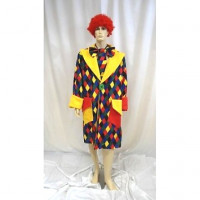 Clown Manteau Losange - location de déguisement adulte DGZL-100412 de Non