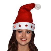 Bonnet Père Noël Lumineux Motif Étoiles Pile Incluse 123DEG-3700638208768-10011567