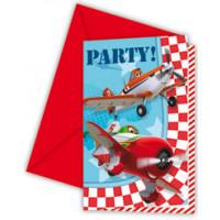 Lot de 6 Cartes Invitation+Enveloppes - Planes 123DEG-5201184816561-10017272
