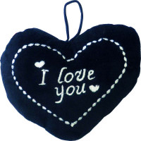 Cœur Noir I Love You 16X11cm 1 Face (24) 123DEG-3700156498566-10017996