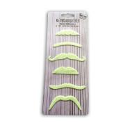 Pack de 6 Moustaches Phosphorescentes 123DEG-3700638222368-10021749