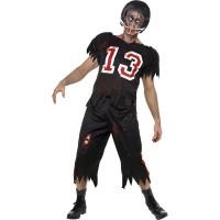 Déguisement Footballeur Americain Zombie Noir Taille L 123DEG-5020570058244-9-10026284