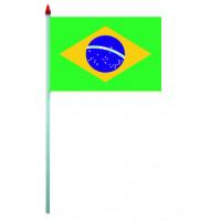 Sachet de 10 Drapeaux Plastique 9.5 X 16cm Bresil 123DEG-3700638216183-10016627