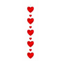 Guirlande Cœurs Carton 110cm 123DEG-3700638212604-10018986