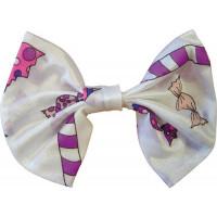 Nœud Papillon Bonbons Blanc 17cm 123DEG-3700631018968-10022417