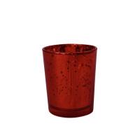 Bougeoir métal 5.5Cmx6.7cm Rouge 123DEG-3661652012116-10011057