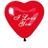 "Sachet de 100 Ballons Cœur""I Love You""Rouge Diam 25Cm Cir 79Cm 123DEG-8021886568318-10002071"