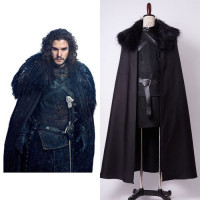 Le Trône De Fer Jon Snow La Garde de Nuit Cosplay Costume à louer DGZL-16912 de Non