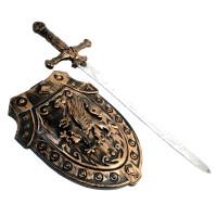 Épée Moyen Age Bronze + Bouclier 50Cm Assorti (1) 123DEG-3588270027110-10020352