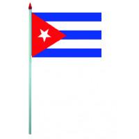 Sachet de 10 Drapeaux Plastique 9.5 X 16cm Cuba 123DEG-3700638216213-10016630