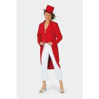 Frac Femme Rouge Gabardine Taille 42 Effet Velours 123DEG-1003189-10033518