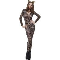 Justaucorps Leopard Brun/Noir Taille Unique 123DEG-5020570268117-9-10025179