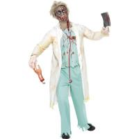 Déguisement Docteur Zombie Blanc et Vert Taille L 123DEG-5020570055779-9-10026148