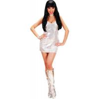 Disco Fever Argent Paillettes Taille M 123DEG-8003558740628-10013783