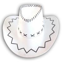 Chapeau Cow-Boy Adulte Texas avec Coutures Blanc 123DEG-3700638202872-10011192