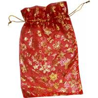 Sac Cadeau Refermable Organza Rouge Décoré 20X18cm 123DEG-3700638208881-10022405