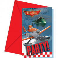 Lot de 6 Cartes Invitations+ Envelop. Planes Rescue 123DEG-52001184843635-10017269