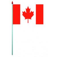 Sachet de 10 Drapeaux Plastique 9.5 X 16cm Canada 123DEG-3700638216190-10016628