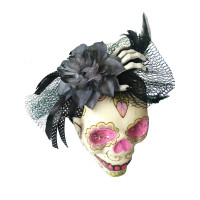 Serre tète Rose Tulle et Main de Squelette 123DEG-3700638225215-10011131