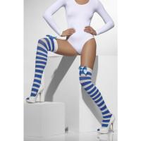 Bas Rayes Blanc et Bleu avec Nœud Bleu 123DEG-5020570427125-9-10028177