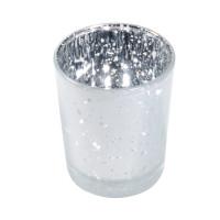 Bougeoir métal 5.5Cmx6.7cm Blanc Givre 123DEG-3661652012413-10011055