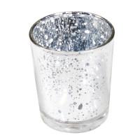 Bougeoir métal 5.5Cmx6.7cm Argent 123DEG-3661652012062-10011054
