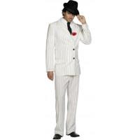Gangster blanc à boutonnière rouge - location déguisement adulte DGZL-200456 de Non