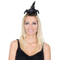 Mini Chapeau Sorcière Noir avec Araignee 123DEG-3700638212468-10011138