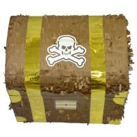 Pinata Coffre de Pirate 34cm (Vendu Sans Baton) 123DEG-3700638223891-10018860