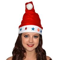 Bonnet Père Noël Lumineux Motifs Noel - Pile Incluse 123DEG-3700638212369-10011568