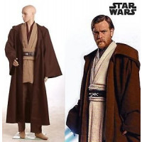 Star Wars Kenobi Jedi Cosplay Costume à louer DGZL-16350 de Non