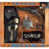 Set Western de Sherif 4 pièces (Revolver, Holster, Ceinture, Insigne)